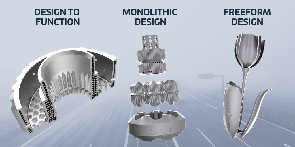 3D design examples for Metal AM